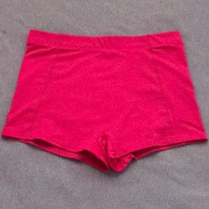 Shorts for dance, cheer, or gymnastics